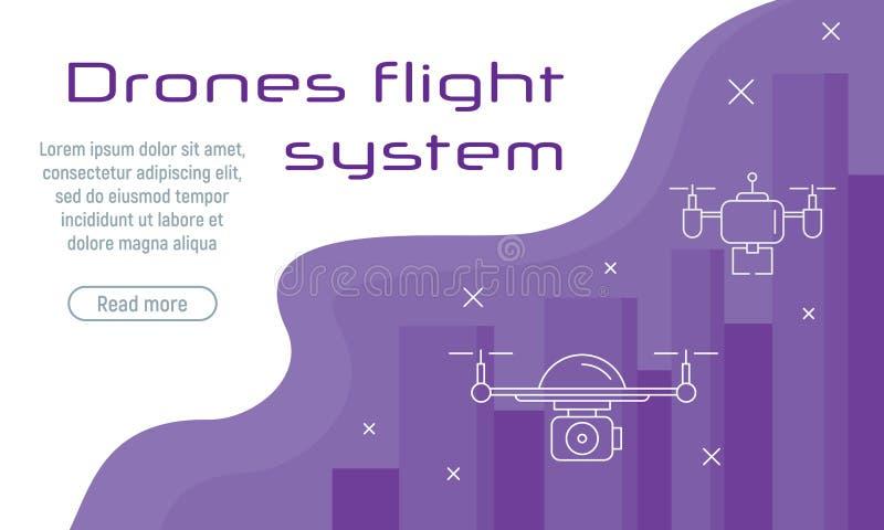 Conept för vektor för surr för Digital underhållningflyg stock illustrationer