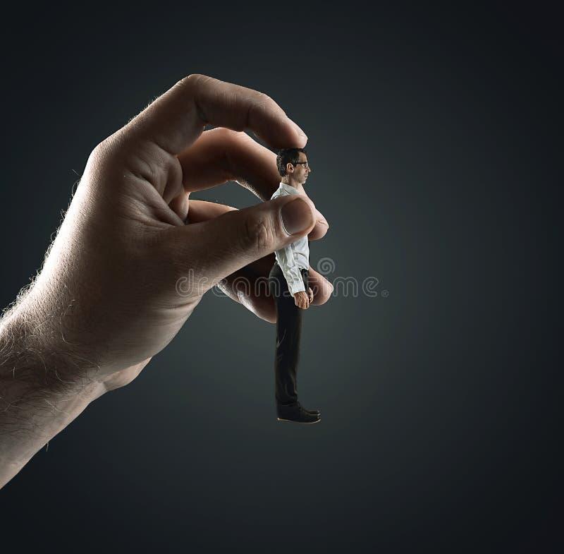 Coneptual-Porträt einer menschlichen Marionette - Arbeitssymbol stockfotos