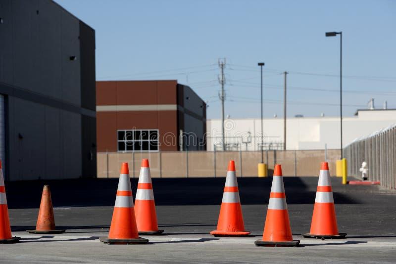 Cones alaranjados fotos de stock royalty free