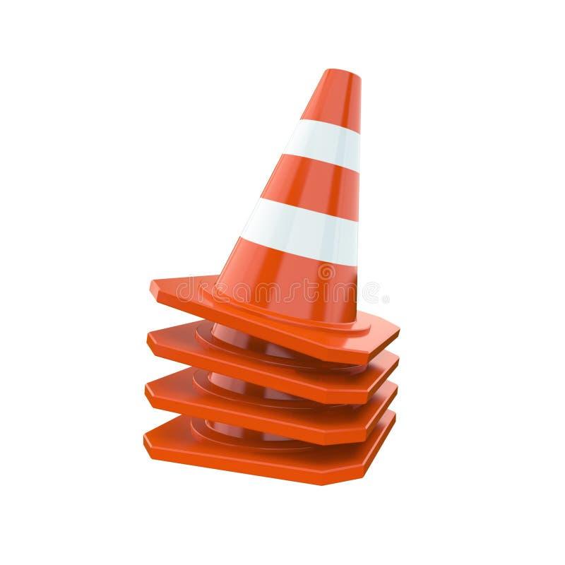 Cones alaranjados do tráfego ilustração stock