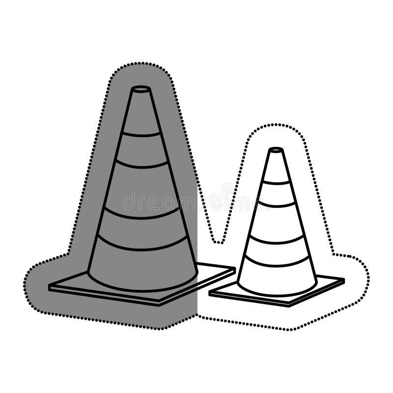 Download Cones caution sign icon stock illustration. Illustration of illustration - 89047313