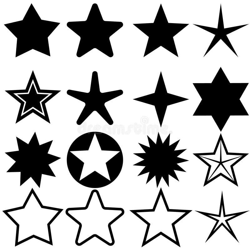 ?cones da estrela ajustados Ilustra??o do vetor da cole??o de cinco estrelas ilustração royalty free