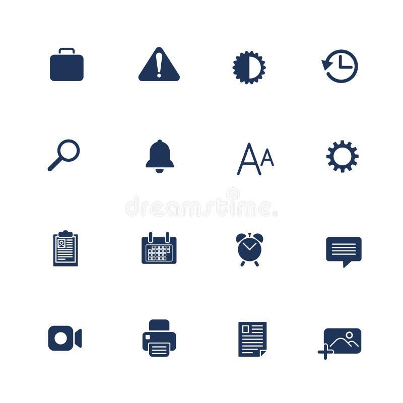 ?cones diferentes para apps m?veis, locais, programas ?cones da TI ilustração do vetor