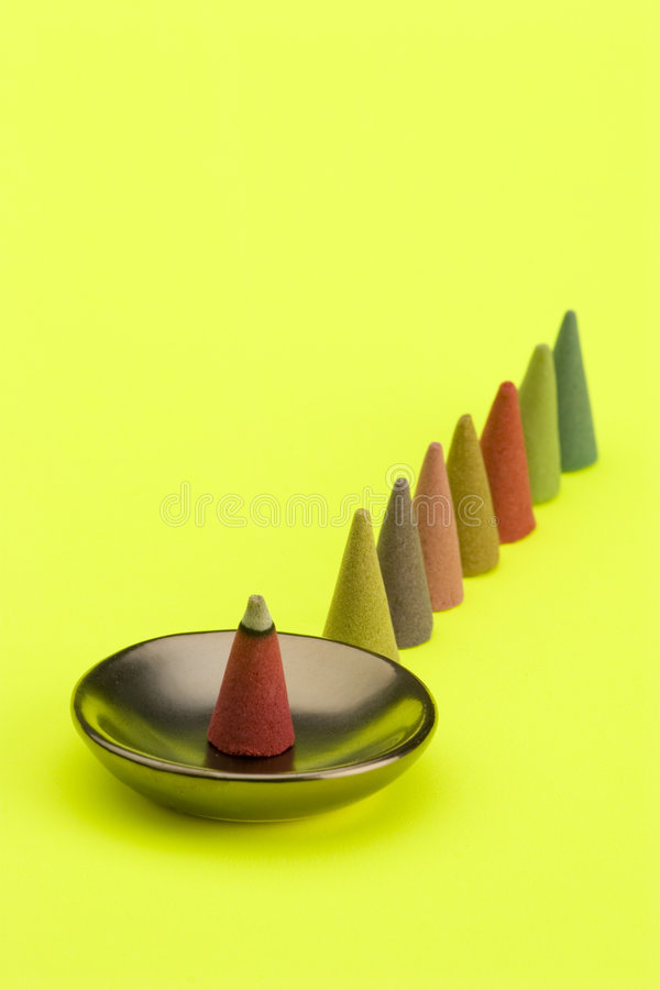 Cones do incenso fotos de stock