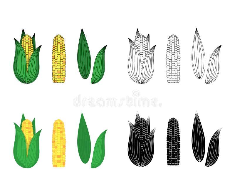 ?cones do milho ilustra??o do vetor para o projeto e a Web ilustração do vetor