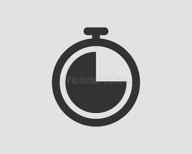?cones do temporizador do vetor ajustados Pictograma do vetor do cronômetro Cron?metro isolado no fundo branco ilustração stock