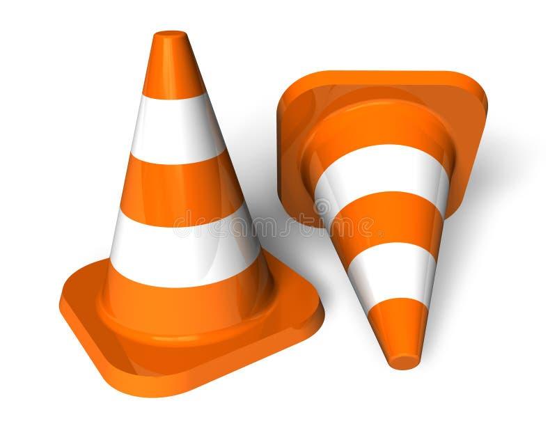 Cones do tráfego ilustração stock