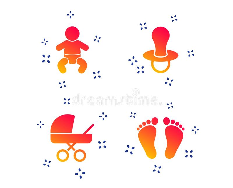 ?cones dos infantes do beb? S?mbolos com erros e do manequim Vetor ilustração do vetor