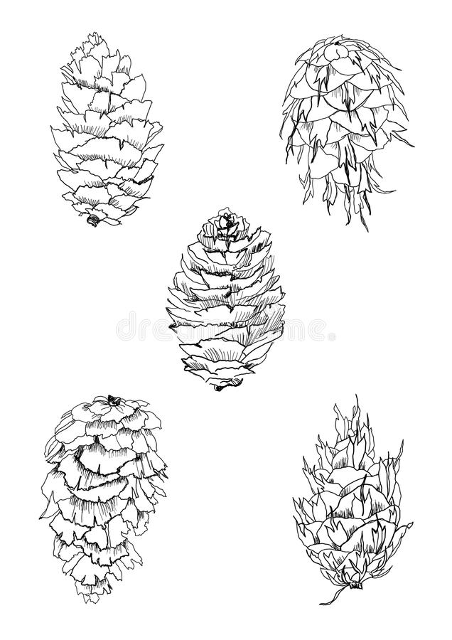 Cones set royalty free illustration