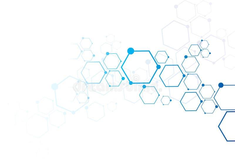Conexão abstrata das partículas ilustração stock