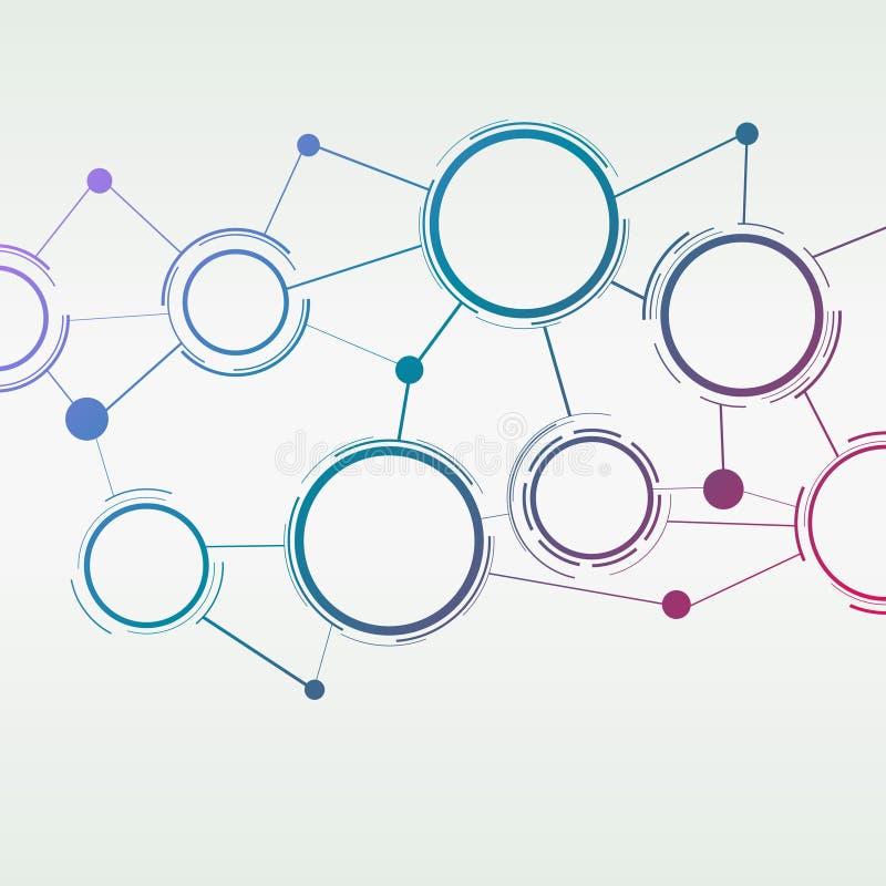 Conexão colorida abstrata - fundo moderno ilustração stock