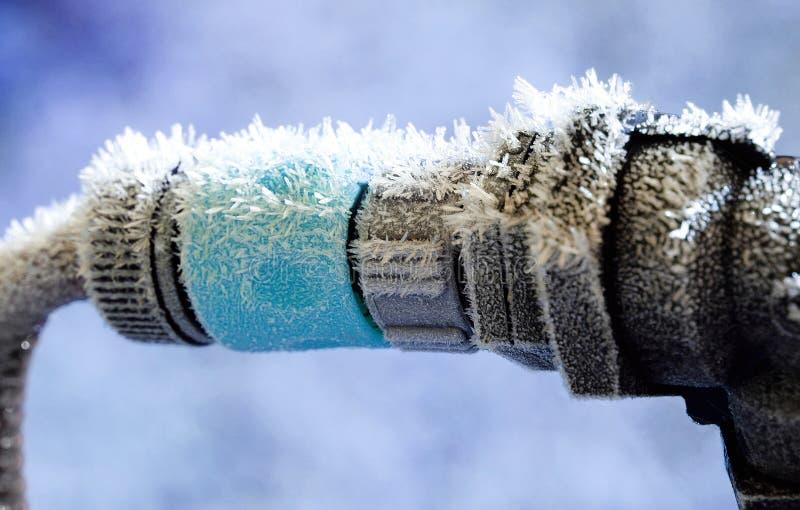 Conexão congelada da água foto de stock