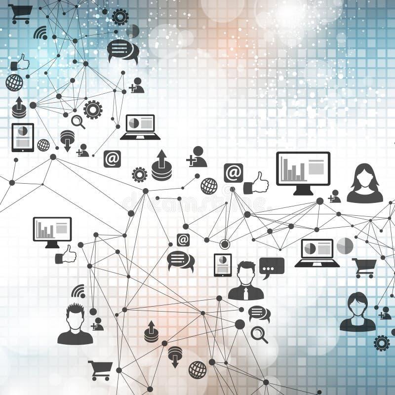 Conexão da tecnologia do Internet ilustração royalty free