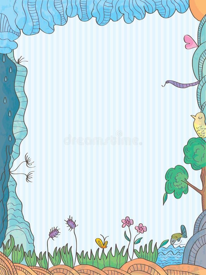 Conexão da vida ilustração royalty free
