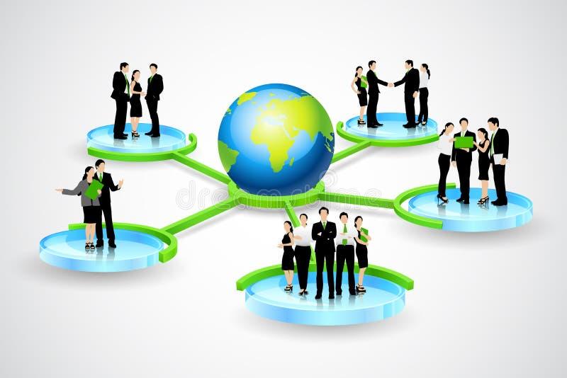 Conexão de negócio ilustração stock