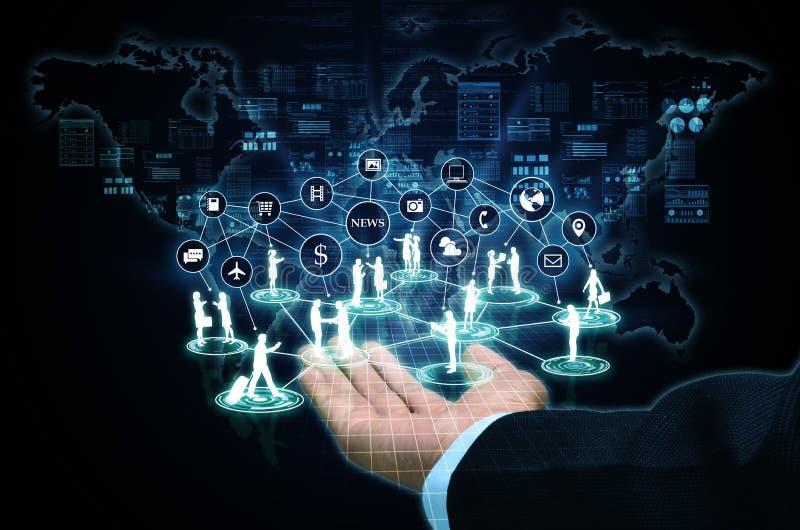Conexão de negócio do Internet foto de stock