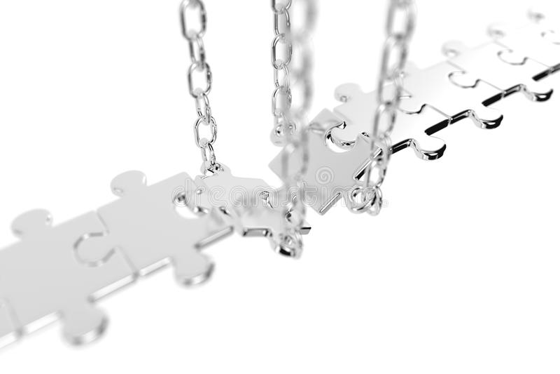 Conexão de ponte bem sucedida do enigma de serra de vaivém ilustração royalty free
