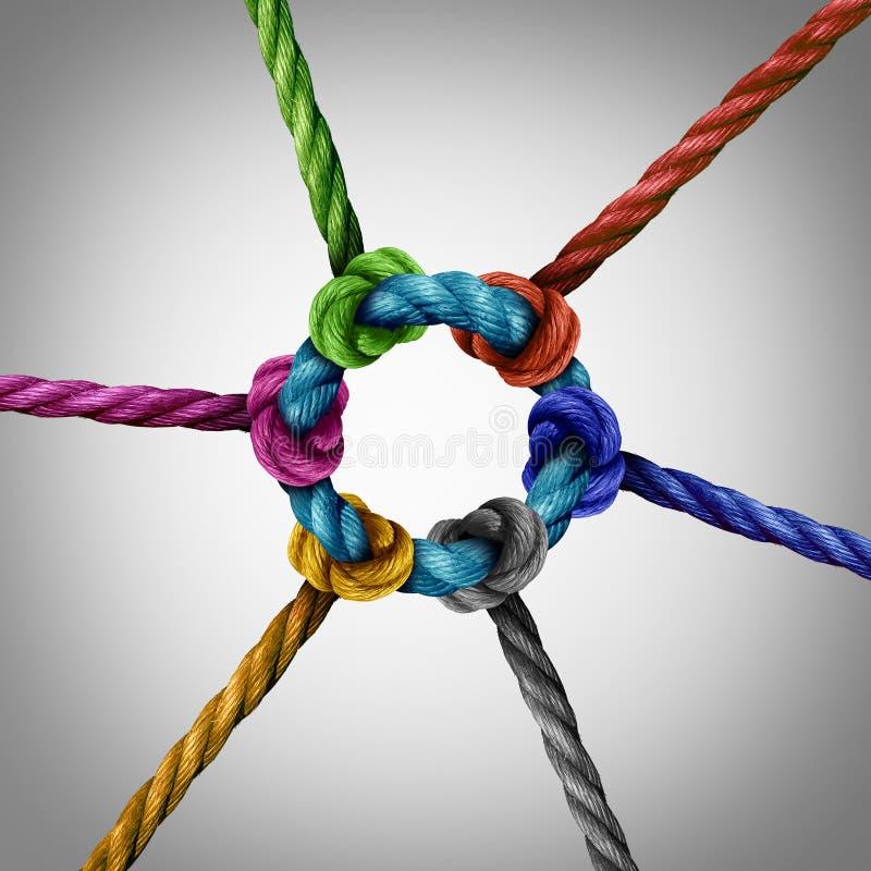 Conexão de rede central ilustração stock