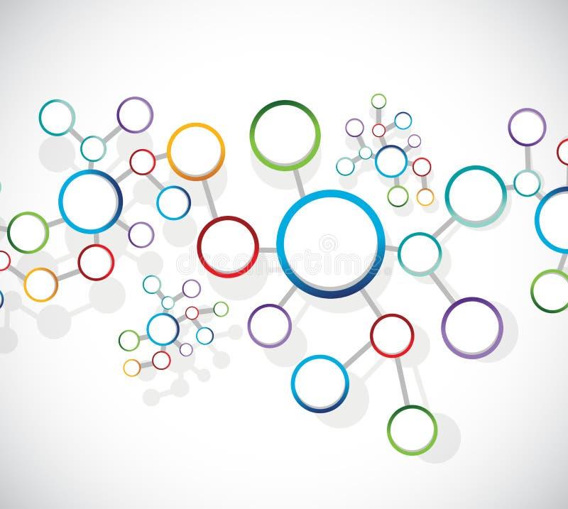 Conexão de rede da relação do diagrama dos átomos ilustração stock