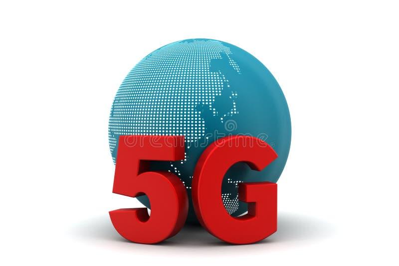 conexão de rede 5G ilustração stock