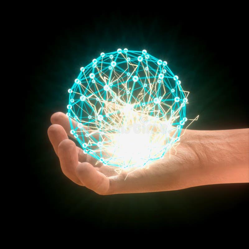 Conexão de rede global da esfera à disposição fotografia de stock