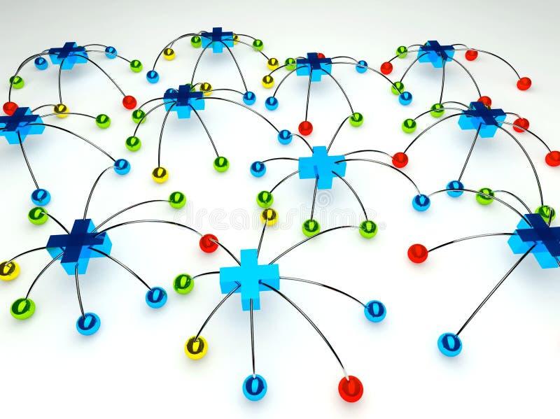 Conexão de rede social positiva ilustração stock