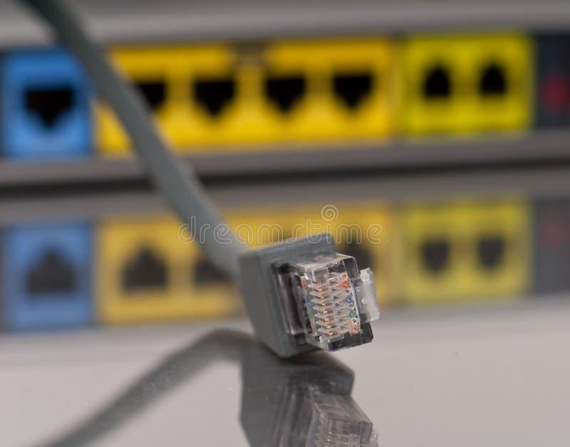 Conexão do Ethernet imagens de stock royalty free