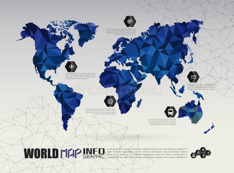 Conexão do mapa do mundo do vetor ilustração stock