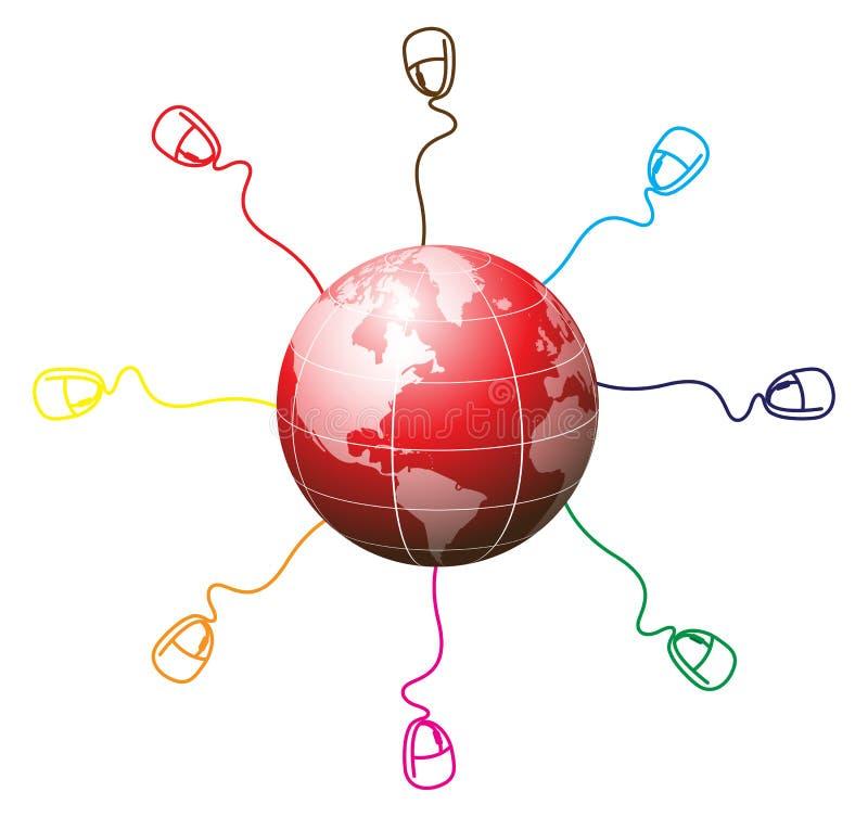 Conexão do mundo ilustração do vetor