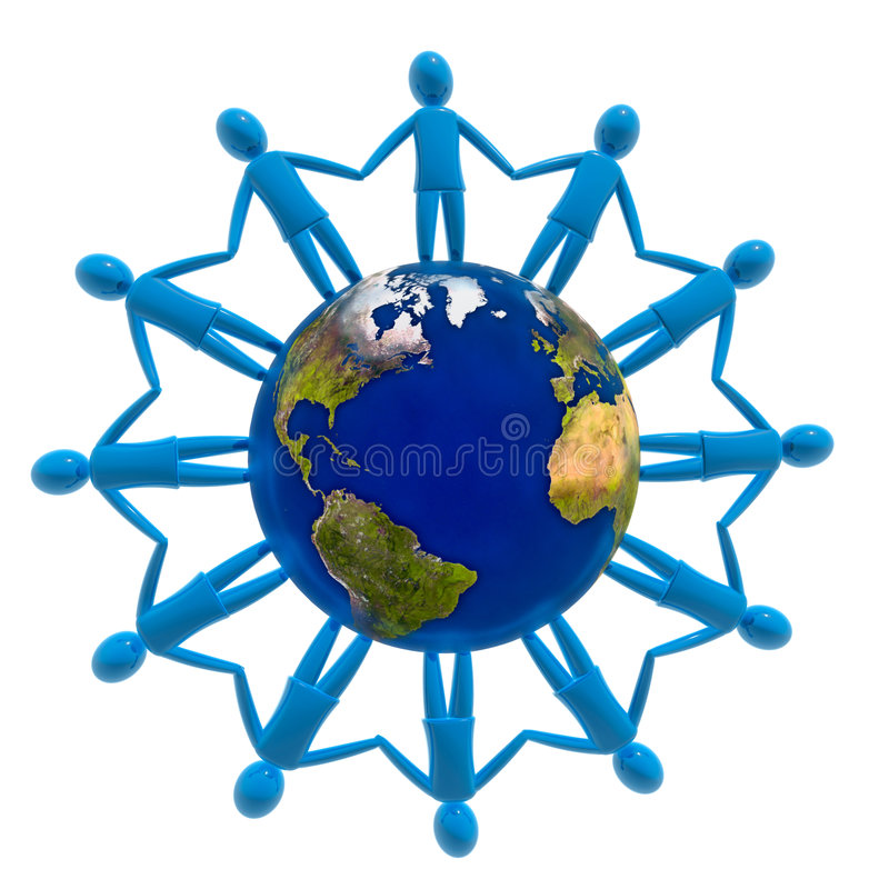 Conexão do mundo ilustração royalty free