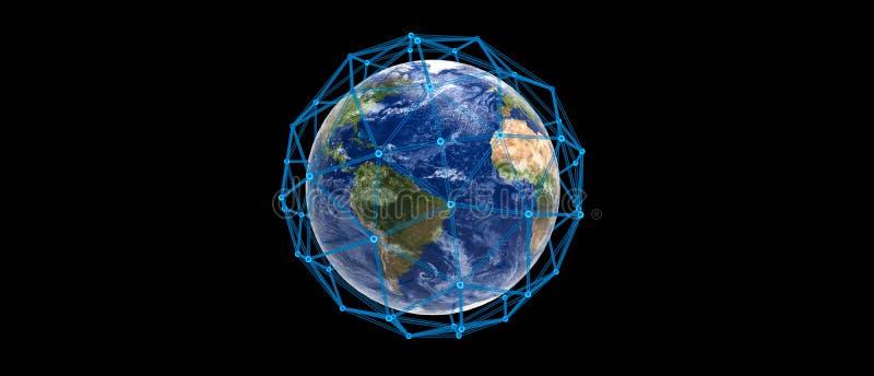 Conexão do planeta da terra ilustração royalty free