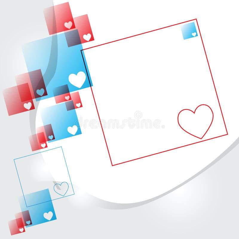 A conexão dos corações ilustração stock