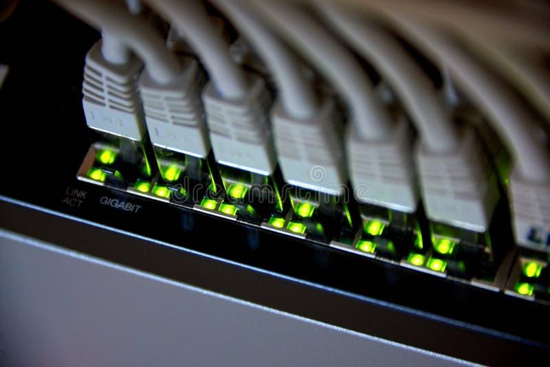 conexão dos ethernet do gigabit imagem de stock royalty free