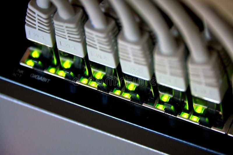conexão dos ethernet do gigabit imagens de stock royalty free