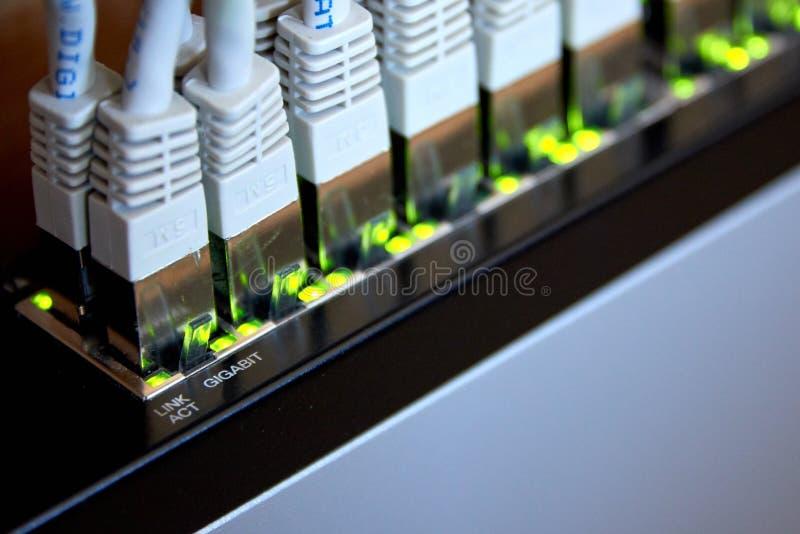 conexão dos ethernet do gigabit fotografia de stock royalty free