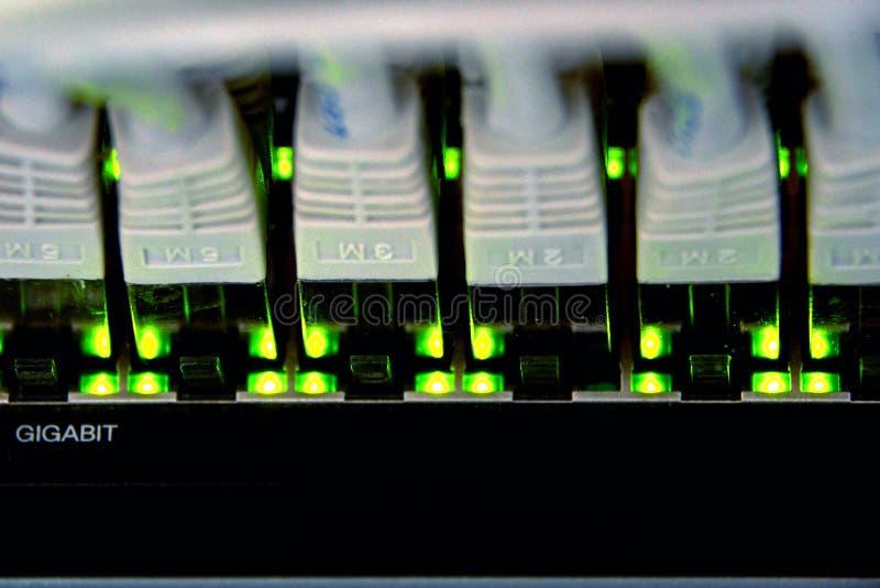 conexão dos ethernet do gigabit foto de stock