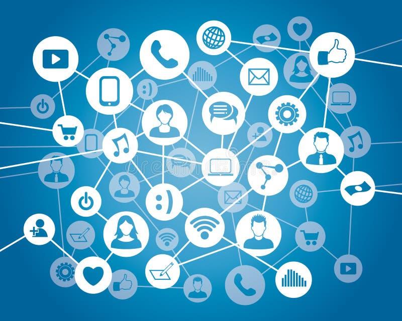 Conexão dos povos de computador ilustração royalty free