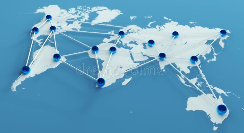 Conexão e trabalhos de equipa sociais de rede ilustração stock