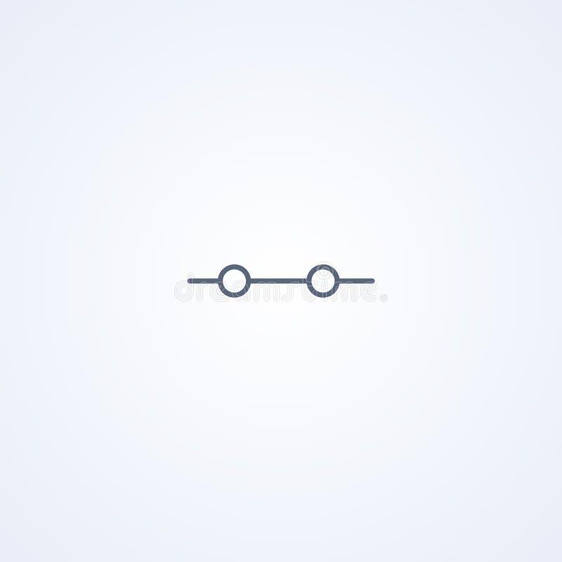 Conexão elétrica, a melhor linha cinzenta símbolo do vetor ilustração royalty free