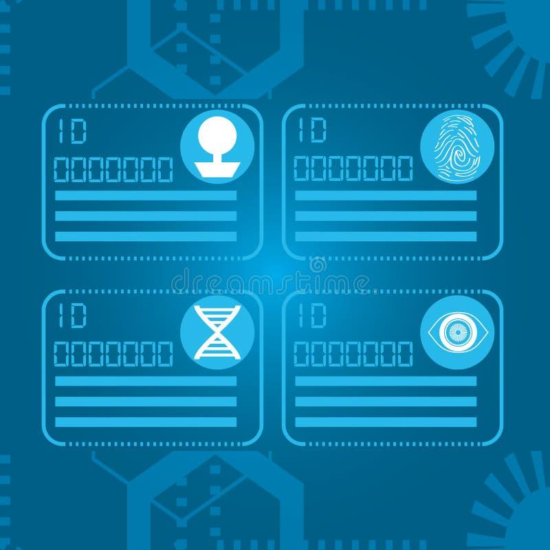 Conexão futura digital ajustada da tecnologia ilustração do vetor