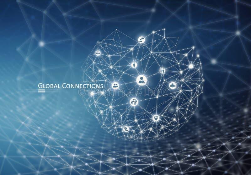 Conexão global sem fio fotos de stock royalty free