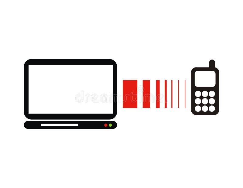 Conexão infravermelha ilustração do vetor