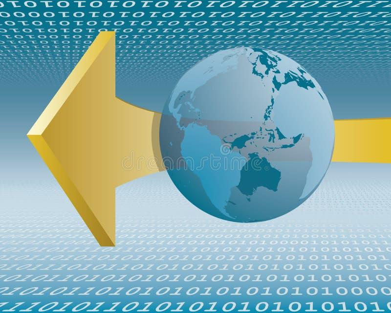 Conexão a internet ilustração stock
