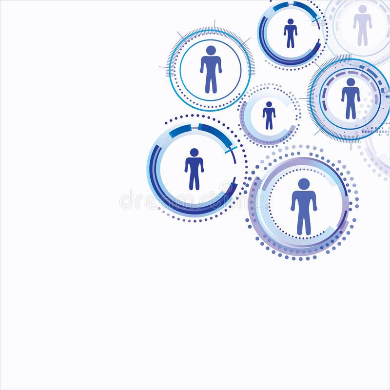 Conexão modelo humana ilustração stock