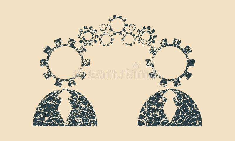 Conexão modelo humana ilustração royalty free