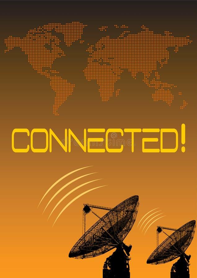 Conexão mundial ilustração royalty free