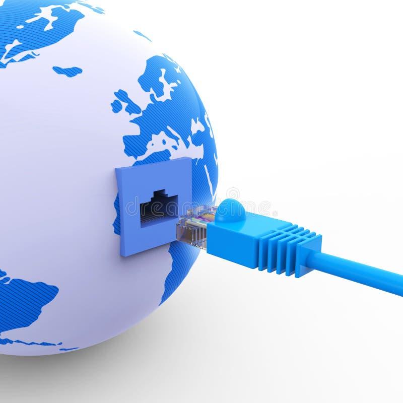 A conexão mundial mostra comunicações globais e a Web ilustração royalty free