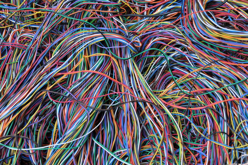 Conexões abstratas da rede informática imagens de stock royalty free