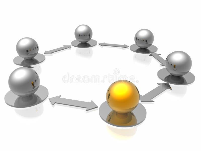 conexões de rede 3d ilustração stock