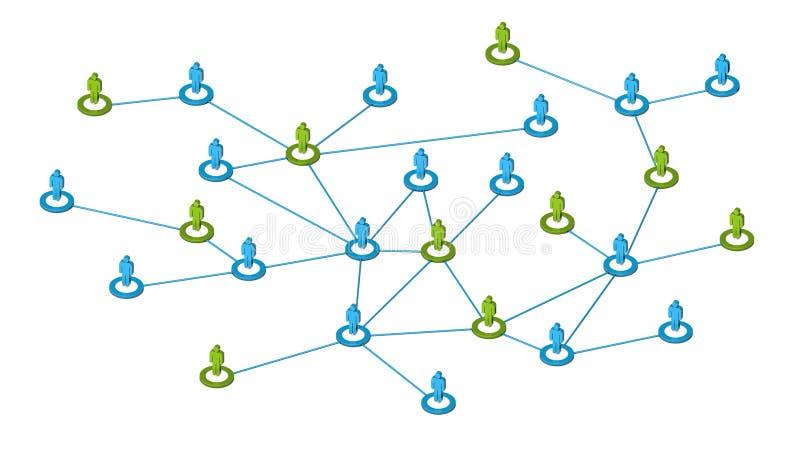 Conexões de rede sociais ilustração royalty free